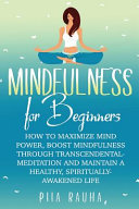 Mindfulness For Beginners PDF
