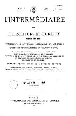 L interm  diaire des chercheurs et curieux PDF