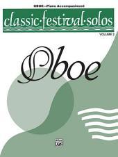 Classic Festival Solos (Oboe), Volume 2 Piano Acc.