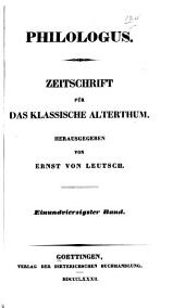 Philologus: Volume 41