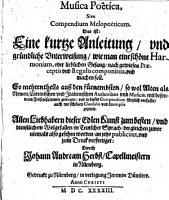 Musica poetica  sive compendium melopoeticum PDF