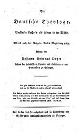 Die deutsche Theologie, mit Luther's und Arnd's Vorreden