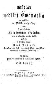 Wyklad na nedelni a swatecni Ewangelia (etc.)