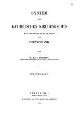 Das Kirchenrecht der katholiken und protestanten in Deutschland: Band 5,Teil 2