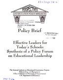 Effective Leaders for Today's Schools