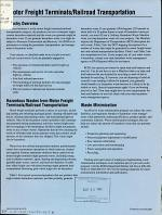 Motor Freight Terminals/railroad Transportation