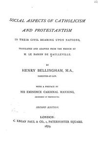 Social Aspects of Catholicism and Protestantism in Their Civil Bearing Upon Nations PDF
