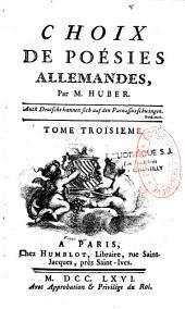 Choix de poésies allemandes