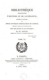 Bibliothèque étrangère d'histoire et de littérature, ancienne et moderne: Volume3