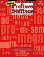 More Prefixes and Suffixes  eBook PDF