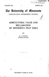Bulletin - Agricultural Experiment Station, University of Minnesota: Issues 188-203