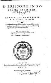 De verborum quae ad Jus pertinent Significatione: Parerchon liber singularis