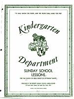 Kindergarten Department Sunday School Lessons PDF
