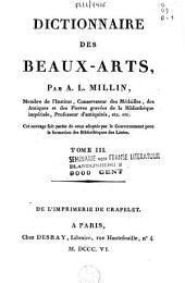 Dictionnaire des beaux-arts: Volume3