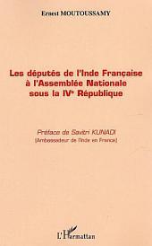 Députés de l'Inde Française à l'Assemblée Nationale sous la IVème République