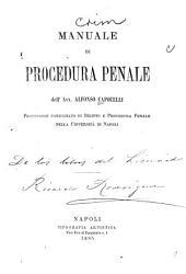 Manuale di procedure penale ...