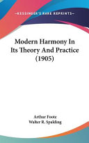 Modern Harmony In Its Theory And Practice Book PDF