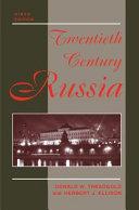 TWENTIETH CENTURY RUSSIA