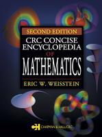 CRC Concise Encyclopedia of Mathematics PDF