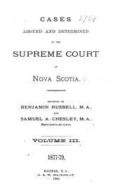 The Nova Scotia Reports: Volume 12