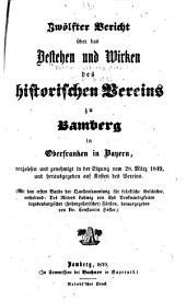 Bericht über das Wirken und den Stand des Historischen Vereins zu Bamberg im Jahre ...