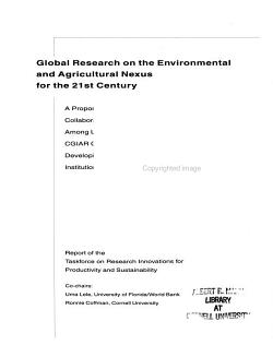 Global Research on the Environmental and Agricultural Nexus for the 21st Century PDF