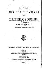 Essai sur les éléments de la philosophie