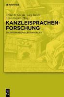 Kanzleisprachenforschung PDF