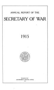 Annual Report of the Secretary of War PDF