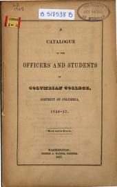 Catalogue of the Columbian College in the District of Columbia