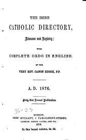 The Irish Catholic Directory, Almanac and Registry with Complete Ordo in English