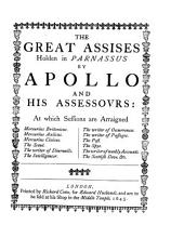 The Great Assises Holden in Parnassus by Apollo and His Assessovrs: Volumes 40-41