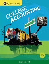 College Accounting, Chapters 1-15: Edition 20