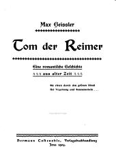 Tom der Reimer: eine romantische Geschichte aus alter Zeit ...