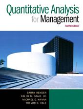 Quantitative Analysis for Management: Edition 12