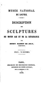 Description des sculptures du moyen âge et de la renaissance