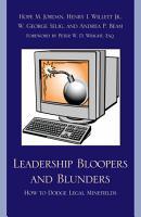 Leadership Bloopers and Blunders PDF