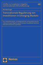 Transnationale Regulierung von Investitionen in Emerging Markets PDF