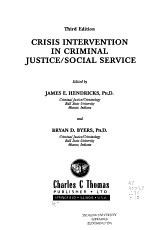 Crisis Intervention in Criminal Justice social Service PDF