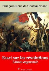 Essai sur les révolutions: Nouvelle édition augmentée