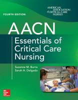 AACN Essentials of Critical Care Nursing  Fourth Edition PDF