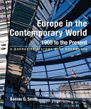 Europe in the Contemporary World  1900 to Present Book
