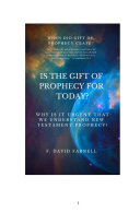 IS THE GIFT OF PROPHECY FOR TODAY?