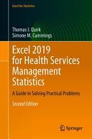 Excel 2019 for Health Services Management Statistics PDF