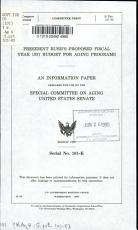 President Bush s Proposed Fiscal Year 1991 Budget for Aging Programs PDF