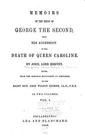 Memoirs of the Reign of George the Second: Volume 1