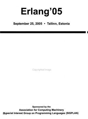 ACM SIGPLAN Erlang Workshop PDF