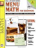 Real Life Math Series  Menu Math for Beginners PDF