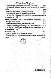 Traicté de la confiance en Dieu... Par le R. P. Nicolas Du Sault...