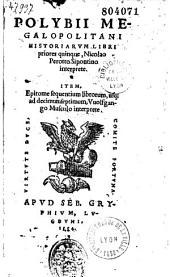 Polybii Megalopolitani Historiarum Libri priores quinque, Nicolao Perotto Sipontino interprete